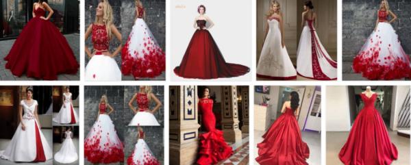 Red Wedding Dress Design Ideas *2021