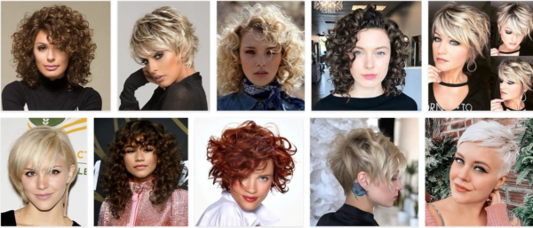 Short Hairstyles For Women With Curly Bangs *2021 New