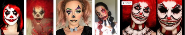 Scary Clown Makeup – 2021 New Styles